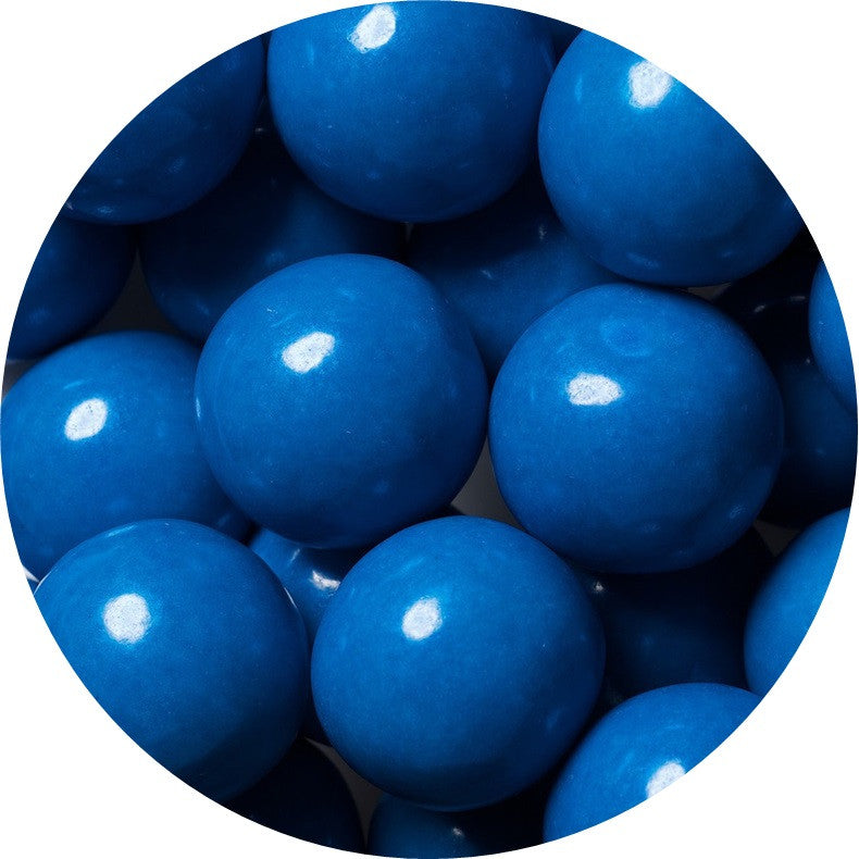 1-inch royal blue colored gumballs in 2 pound bag