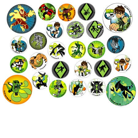 Ben 10 themed stickers sold in bulk