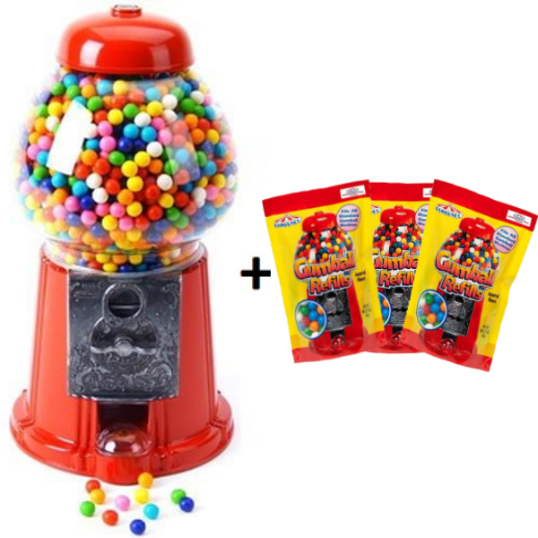 King Carousel Gumball Machine with Gumball Refill