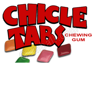 Chicle Tabs Vending Label