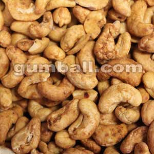 Chipotle Cashews sold in bulk 20 lbs case.