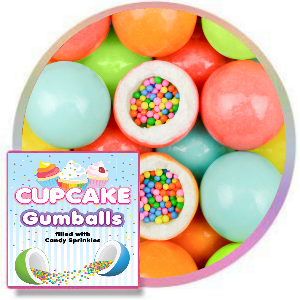 Cupcake Sprinkle Gumballs  Product Image