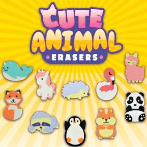 "Cute Animal Erasers 2"" Capsules Product Image"