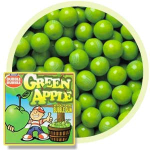 Dubble Bubble green apple gumballs