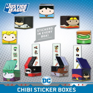 DC Comics Chibi Sticker Boxes  Product Image