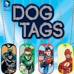 DC Comics Dog Tags 2 inch capsule toy