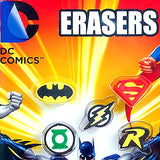 DC Comic Pencil Top Erasers 1 Inch Toy Capsules