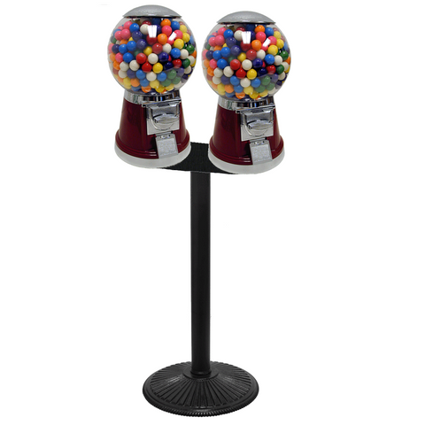 2-head Big Bubble gumball and candy vending machine