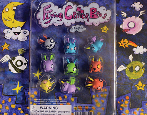 Front side of Flying Critter Boos Display Card