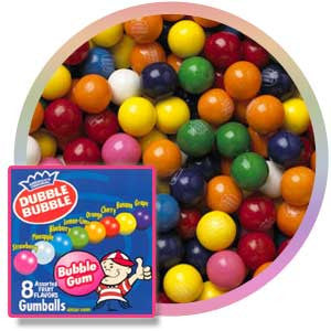 "Dubble Bubble 1"" Assorted Gumballs"