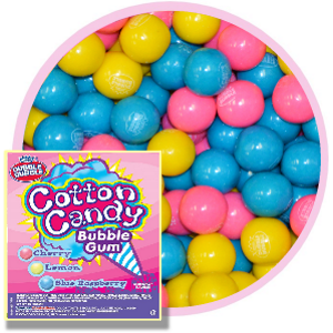 "Dubble Bubble Cotton Candy Gumballs (1""/850 count)"