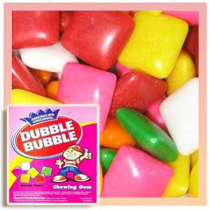 Dubble Bubble Assorted Fruit Chicle Gum