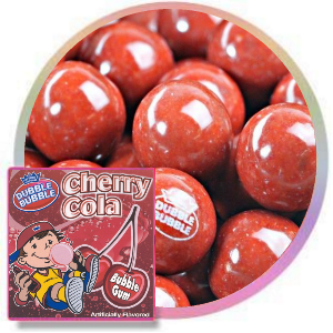 Dubble Bubble Cherry Cola Gumballs Product Image