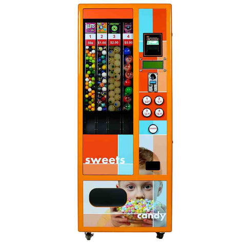 Electric Wizard gumballs, toy capsule and bouncy ball vending machine