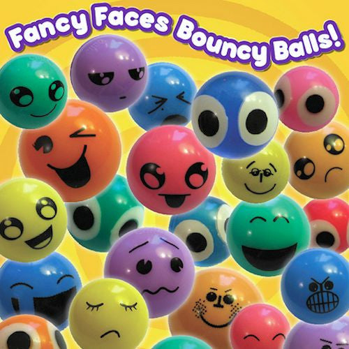 27 mm Printed Face Bouncy Balls