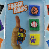 1 inch Finger Bands capsules front of display
