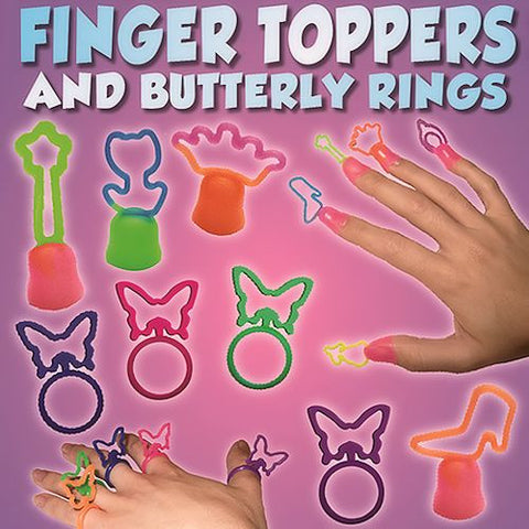 Finger Toppers and Butterfly Rings 1 Inch Toy Capsules