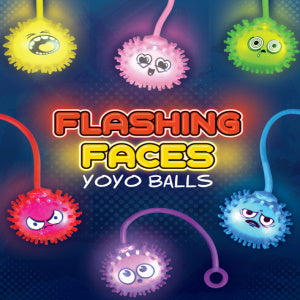 "Flashing Faces Yo-Yo Balls 2"" Capsules"