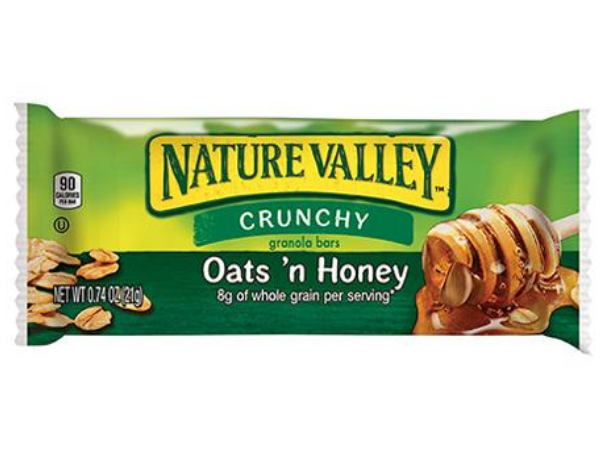 nature valley oats and honey granola bar food snack front of 1.49 oz bar