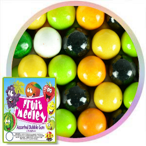 1 inch Fruit Medley bubble gum balls by Zed