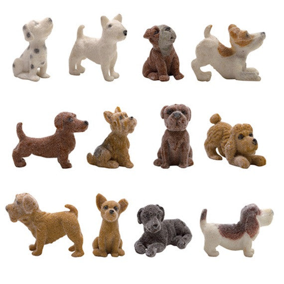 Fuzzy Puppy Friends Figurines