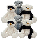 Fuzzy Shades of Gray Jumbo Plush Mix - 48 ct