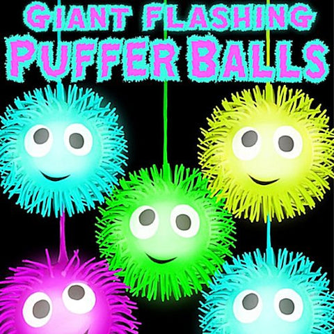 Giant Flashing Puffer Balls 4 Inch Toy Capsules