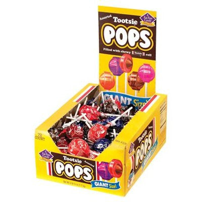 Giant Tootsie Roll Lollipops