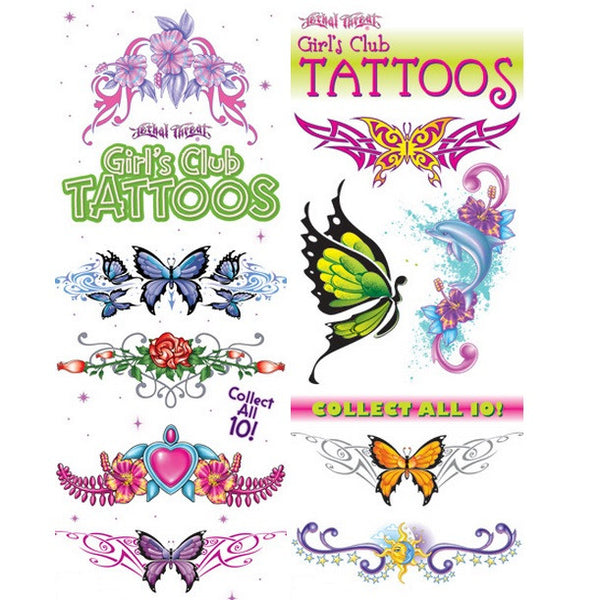 Girls Club Temporary Tattoos