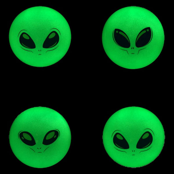 5 Inch Glow in the Dark Alien Balls Glow in the dark