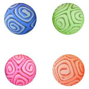 45 mm Glowing Stripe Brilliant Swirls Bouncy Ball Superballs Product Image
