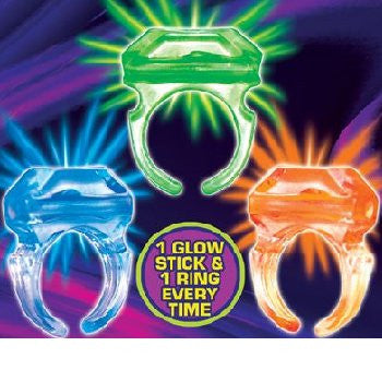 Glow Rings 1 Inch Toy Capsules