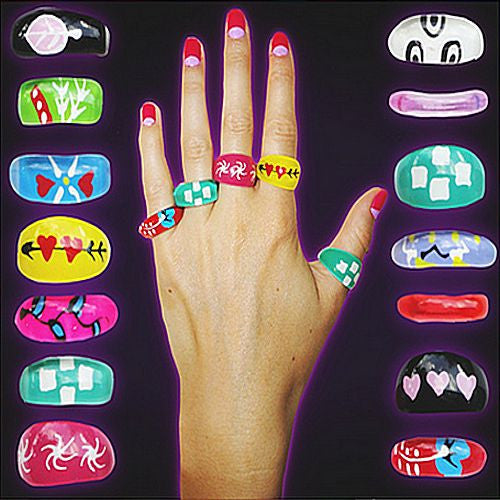 Groovy Fashion Rings (Series 3) 1 Inch Toy Capsules