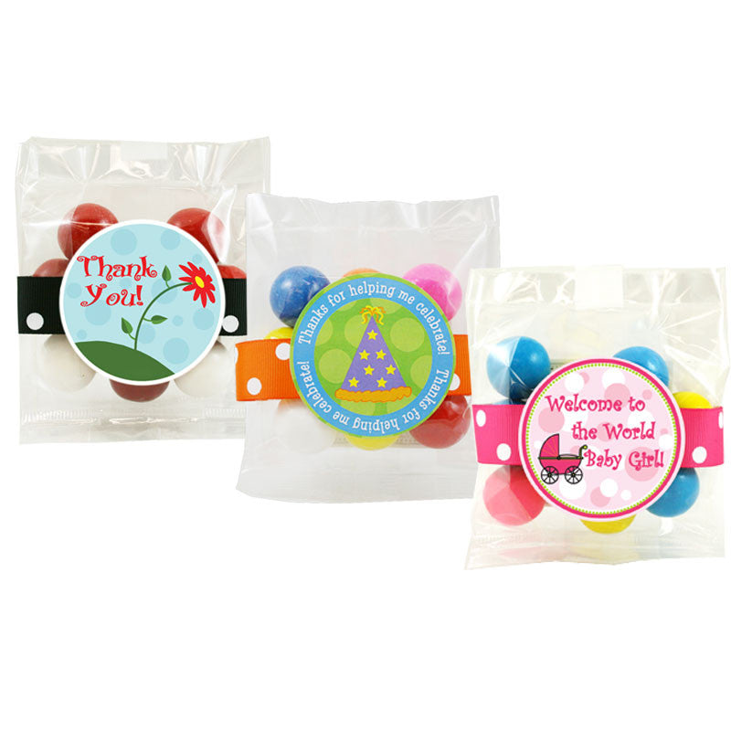 Personalized Gumball Cello Bags - 3oz