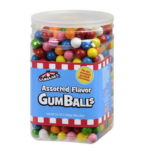 Carousel Gumballs Jar 36 Ounces