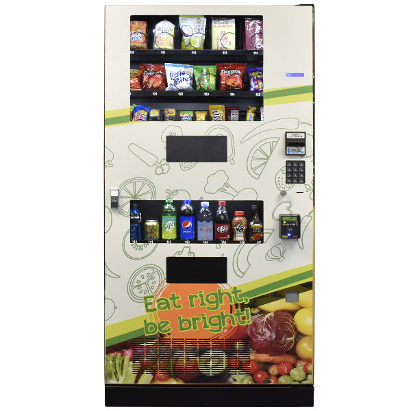 Seaga Healthy drink & snack vending machine front view