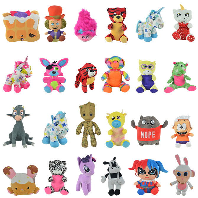 50% Licensed Jumbo Plush Mix - 75 ct