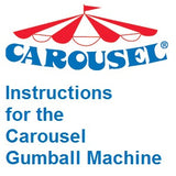 Instructions and parts diagram for the Carousel gumball machine