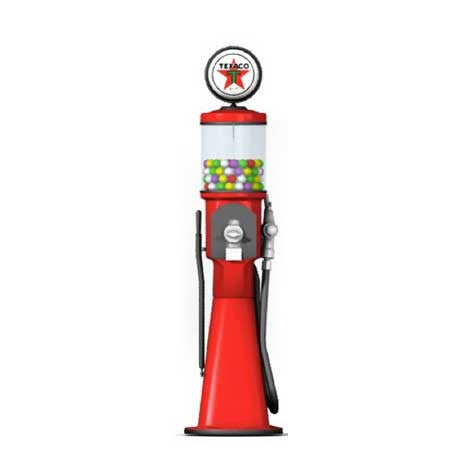 "5 4"" Replica Gas Pump Gumball Machine"