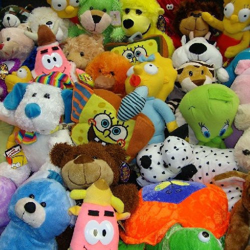 Jumbo size plush mix 30% of the pieces are licensed