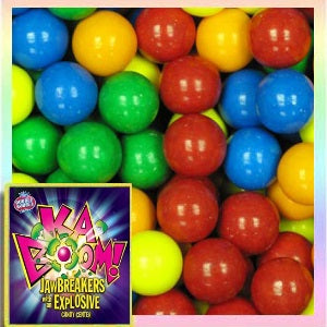 Kaboom solid color Jawbreakers with Candy Center