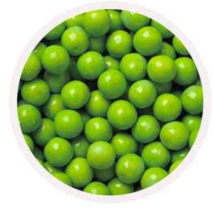 1-inch lime green gumballs