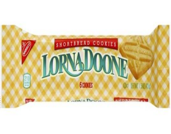 Lorna Doone Shortbread cookies front of 1.5 oz pack