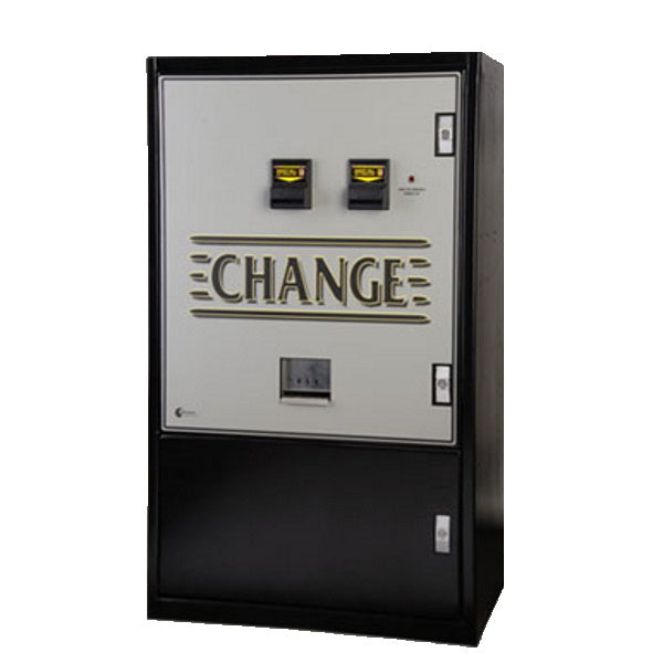 MC940-DA Standard Dual Bill Change Machine Product Image Front View Change Graphic