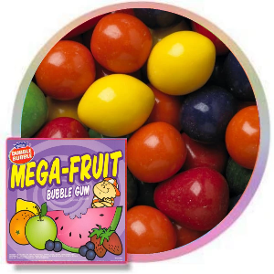 Dubble Bubble Mega Fruit Gumballs  Product Image