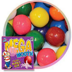 Mega Mouth Candy Filled Gumballs Product Image