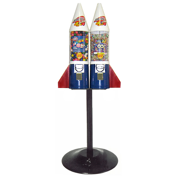2-head Mighty Mite Rocket gumball vending machine