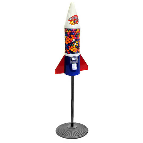 Mighty Mite Rocket Gumball Machine on Retro-Stand