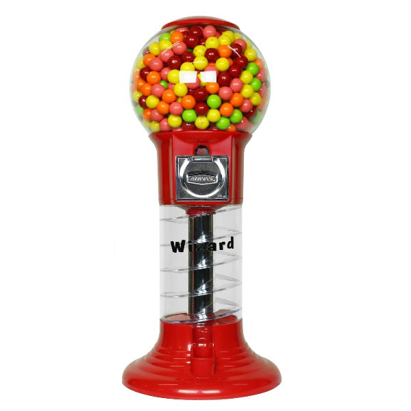 Mini Wizard spiral gumball machine in red