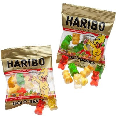Mini Gold Haribo Bears